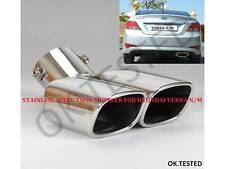 STAINLESS STEEL TWIN CURVED EXHAUST COVER/TAILPIPE - HYUNDAI VERNA FLUDIC N/M