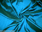 "BLUE TEAL FUAX SILK TAFFETA FABRIC 60""W for BRIDESMAID DRESS WEDDING DECOR DRAPE"