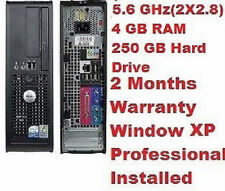 DELL OPTIPLEX 745 PENTIUM D(Dual Core) 2.8 GHZ 250GB HD 4GB RAM DVD ROM