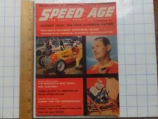 1958 Speed Age Magazine.  Joystick Steering; Sunbeam Rapier Test; Racing Results