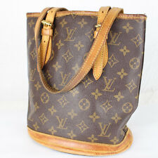 JUNK Auth LOUIS VUITTON Petit Bucket Tote Bag Purse Monogram M42238 Brown