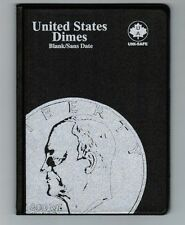 Uni-Safe United States US Dimes 10 Cents Coin Album Folder Blank - No Date