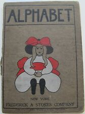 Early 20th Century Juvenile Female Girls Golliwog Poetry Rhymes ABC Book