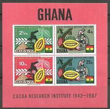Ghana - Kakao-Forschungsinstitut Block 30 postfrisch 1968 Mi.Nr. 334-337