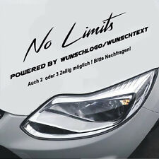 No Limits Wunschtext/Logo Motorsport Sport Mind Aufkleber Sticker Limited Tunnin