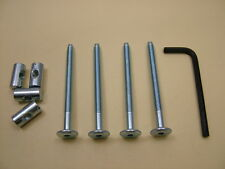 Bed / cot bolts 4 sets of M6 x 75mm bolt, allen key & 20mm barrel nut= 9 items