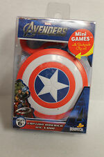 The Avengers Captain America Mini Games Card Game w/ Backpack Clip-On Case NEW