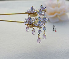 High Quality Chinese Classical Ladies Hairpin Step Shake Czech Crystal Flower
