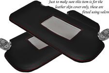 RED STITCH FITS FORD FIESTA MK6 MK7 FUSION 02-08 2X SUN VISORS LEATHER COVERS