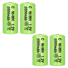4 x C Size 9500mAh 1.2V NiMH Rechargeable Battery Green