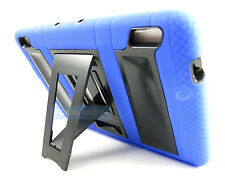 BLUE BLACK RUGGED VAULT HYBRID CASE COVER STAND FOR AMAZON KINDLE FIRE HDX 7