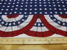 "1 yard ""Patriotic Bunting""  Fabric"
