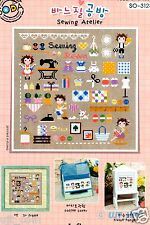 """Mini Sewing room"" Counted cross stitch chart.(pattern leafle) SODA SO-3128"