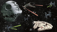 STAR WARS SHIPS XL WALL MURAL Prepasted Wallpaper Death Star Bedroom Decorations