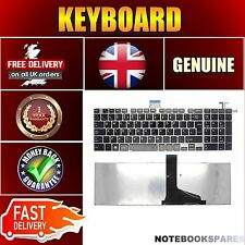 TOSHIBA SATELLITE L850-166 Notebook Keyboard Black Keys UK