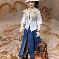 Pat Tyler Doll Skirt Top Blouse Hat Shoes Clothing Outfit Heidi Ott 1:12 Scale