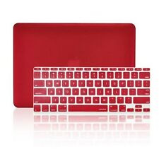 "WINE RED Matte Hard Case + Keyboard Skin for Macbook Air 11"" Model A1370 & A1465"