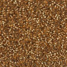 Miyuki Delica Size 11/0 Seed Beads Silver Lined Light Bronze 7.2g Tube (B79/7)