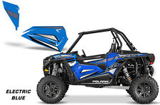 AMR Racing Polaris RZR 1000/900 Lower Half Door Graphic Wrap Kit 2 Door E BLUE