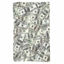 "HUNDRED DOLLAR BILLS Polar Fleece Throw Blanket 36"" x 58"""