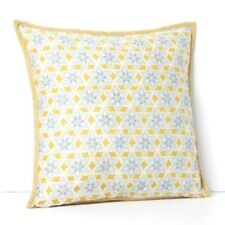 """Sky Martine Moroccan Embroidered 18x18"""" Throw Pillow Yellow / Grey  - MSRP $125"""
