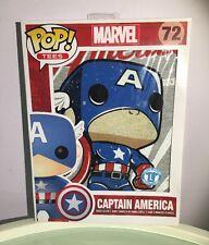 Funko Pop #72 Captain America Short Sleeve Tees & Mini Standee Collector Card
