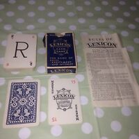 Blue Pack LEXICON Skill Card Game Waddingtons Arts & Crafts Letters Old Rare VGC