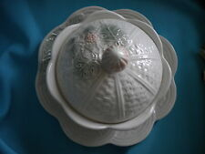 Decorative Bowl/Candy Dish-Lid & Under Plate-Italian-Grape and Basket Design