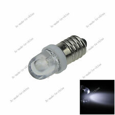 1X White 1 In line LED E10 1447 style Bulb Light for DIY LIONEL 6V - 12V N601