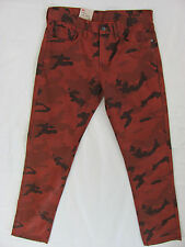 Levi's 511 Slim Fit Pants- Camo Overdye Pica - Rust/Black Mens  W32 L32  NWT-$68