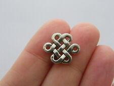 BULK 50 Celtic knot connector antique silver tone R81
