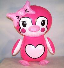 PINK PENGUIN  INFLATABLE 24 IN NOVELTY TOY blow up inflate novelty NEW birds