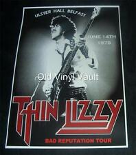 Thin Lizzy Repro Concert Poster Ulster Hall Belfast 1978