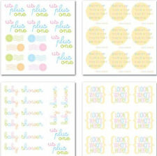 BABY Rub-Ons SWATCH PACK scrapbooking CARDMAKING Announcement Invite