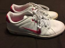 Nike Court Tradition Womens Casual Shoe Sneaker 315161-160 Sz 6 White Pink