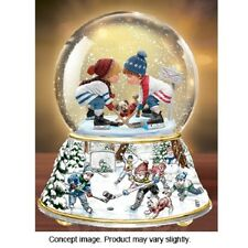 Sherwood Hockey Snow Globe / Water Globe Bradford Exchange Thomas Kinkade