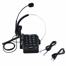 Office Telephone With Corded Headset Call Center Phone Tone Dial Key Pad REDIAL