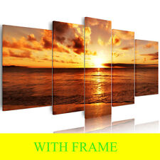 HD Large Canvas prints Sunset Sea Paintings Home Decor Wall Hangings With Frame