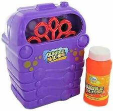 Bubble Machine Blower Birthday Disco Party Bubbles Garden Toy & Solution Tub