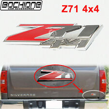 Red Z71 4x4 Emblem Badge Sticker Trim ABS For 09-15 Chevrolet Silverado 1500 4D