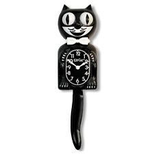 "Classic BLACK KIT CAT CLOCK 15.5"" Full Size Authentic Made in the USA"