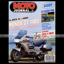 MOTO JOURNAL N°908 BMW R50 S R50S ★ MZ 251 ETZ ★ HONDA ST 1100 PAN EUROPEAN 1989
