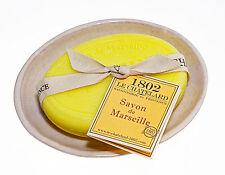 französische Seife Verveine-Citron mit Seifenschale aus Keramik