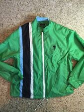 Mens Marc Ecko Cut & Sew Jacket  Green Stitch Medium Mesh Lined Ked