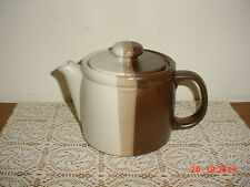 "2-PC MCCOY POTTERY ""SANDSTONE"" 9"" COFFEE POT/#1418/USA/BRN-TAN-GREY/CLEARANCE!"