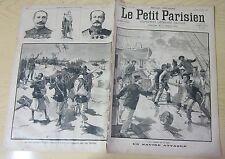 Le petit parisien 1892 192 le commandant faurax blessé à mort