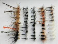 Dry Trout Fishing Flies, 50  Pack, All named Varieties, Mixed Size Fly Fishing