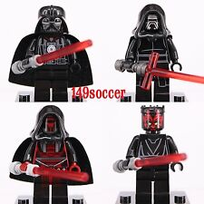 4pcs set Star Wars Darth Varder Maul Revan kylo ren Minifigures custom Lego