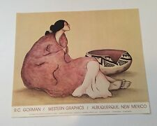 """RC Gorman Poster """"Tonto Bowl"""" 19 X 24 Companion For Woman From Window Rock"""