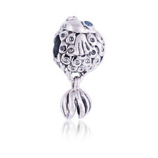 Genuine Pandora Silver Blue Fish Charm 791108TPP Authentic